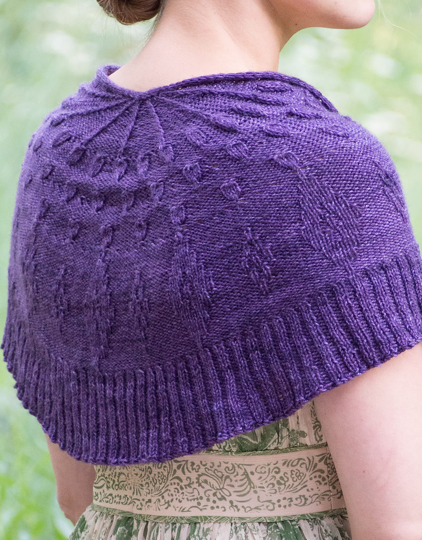 Free Knitting Pattern for One Skein Shawl Tactile Stimuli