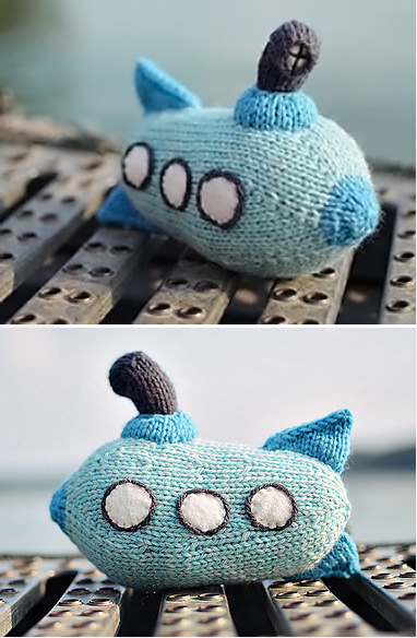 Free Knitting Pattern for Submarine Toy