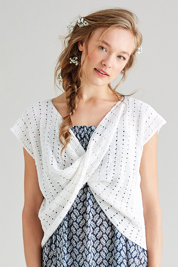 Free Knitting Pattern for Taffeta Top