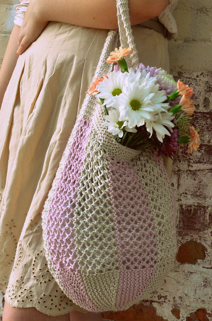 Free Knitting Pattern for Taffy Market Bag