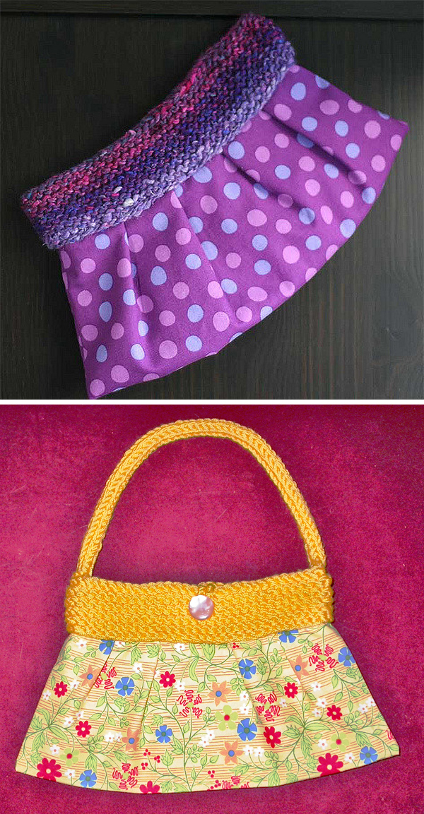 Free Knitting Pattern for Tag Along Clutch