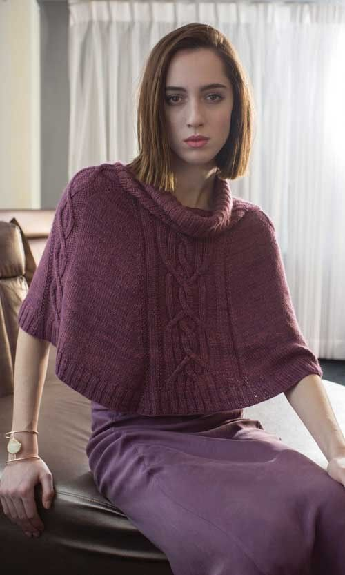 Knitting pattern for Tallin Poncho