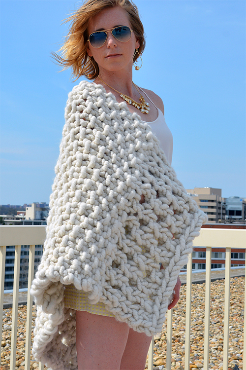 Knitting Pattern for Tailor's Chalk Shawl