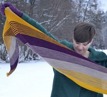 Tailwind Shawl free knitting pattern and other colorful shawl knitting patterns