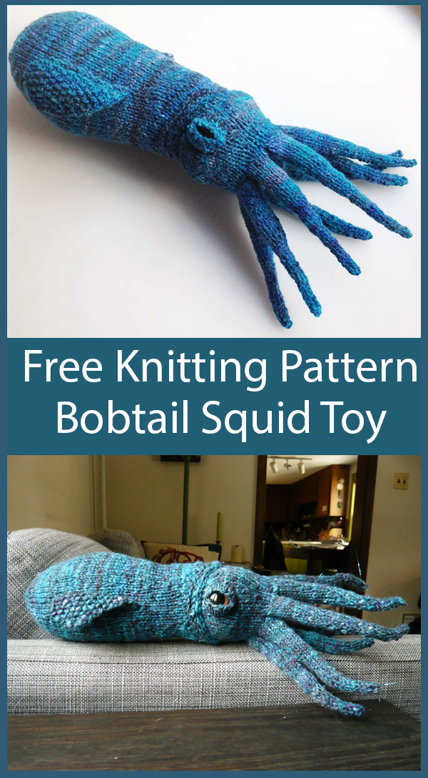 Free Knitting Pattern for Bobtail Squid Toy