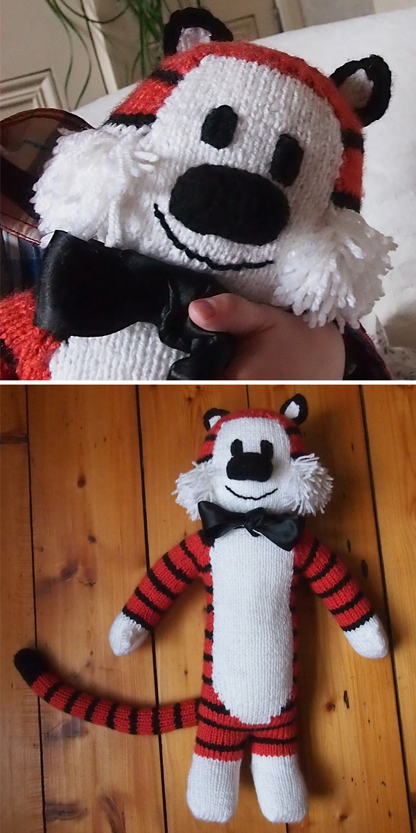 Free Knitting Pattern for Tall Tiger