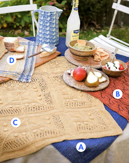 Free Knitting Pattern for Tambleta Table Linens