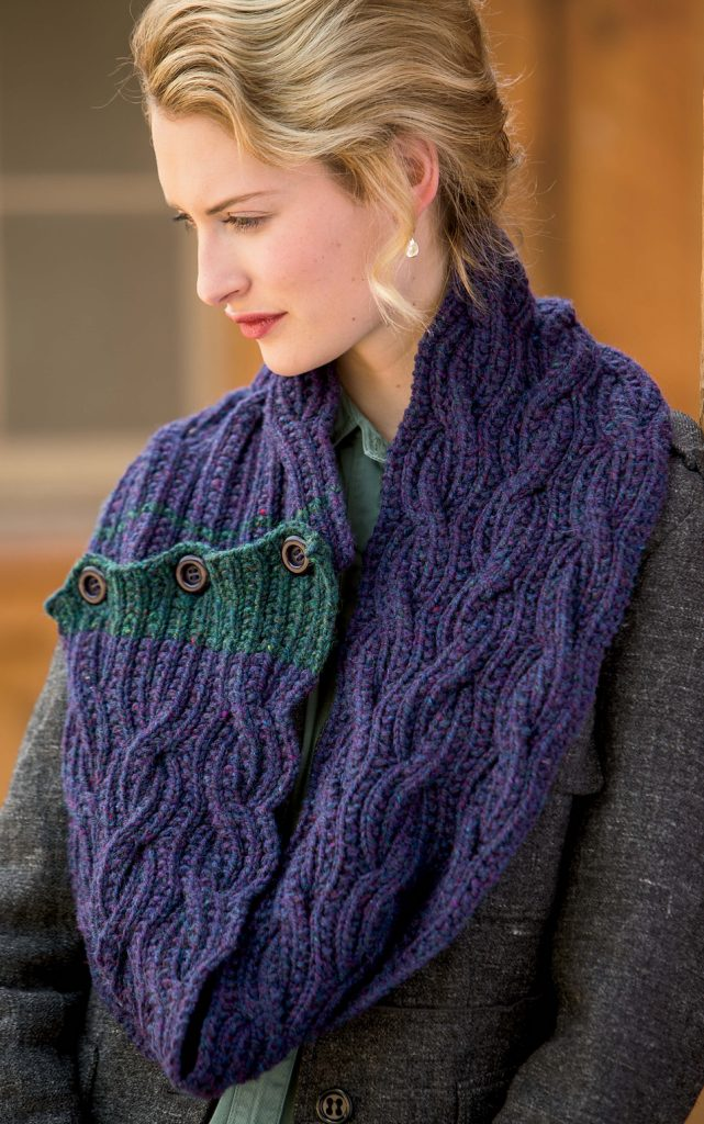 Easy Knitting Pattern for Tandem Scarf
