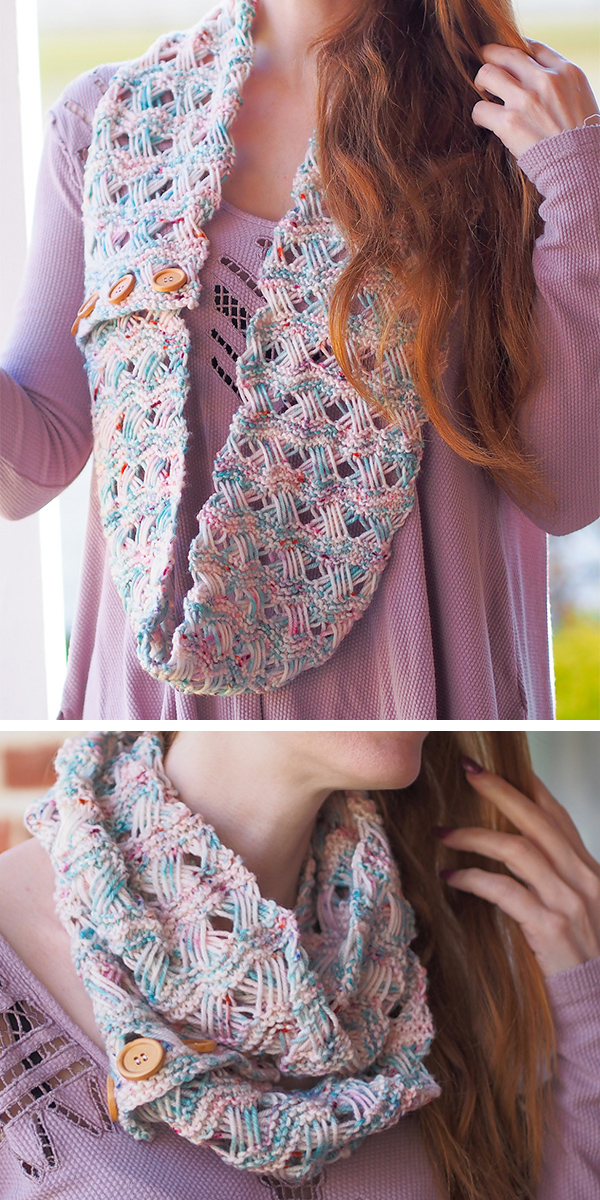 Free Knitting Pattern for Tangled Lines Cowl