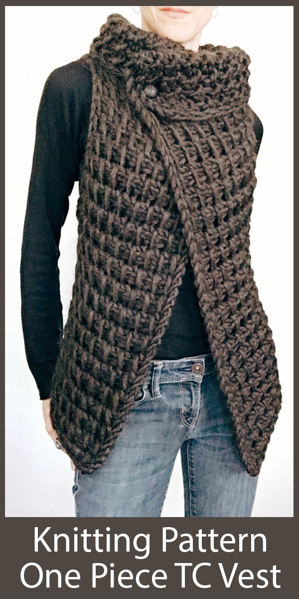 Knitting Pattern for One Piece TC Vest