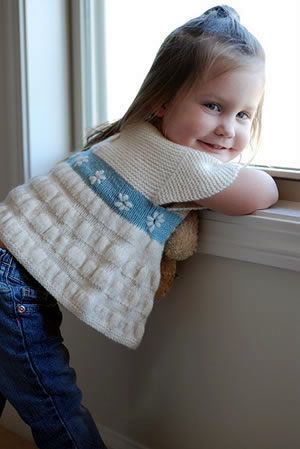 Tea Party Frock Sweater Free Knitting Pattern | Free Baby and Toddler Sweater Knitting Patterns including cardigans, pullovers, jackets and more http://intheloopknitting.com/free-baby-and-child-sweater-knitting-patterns/