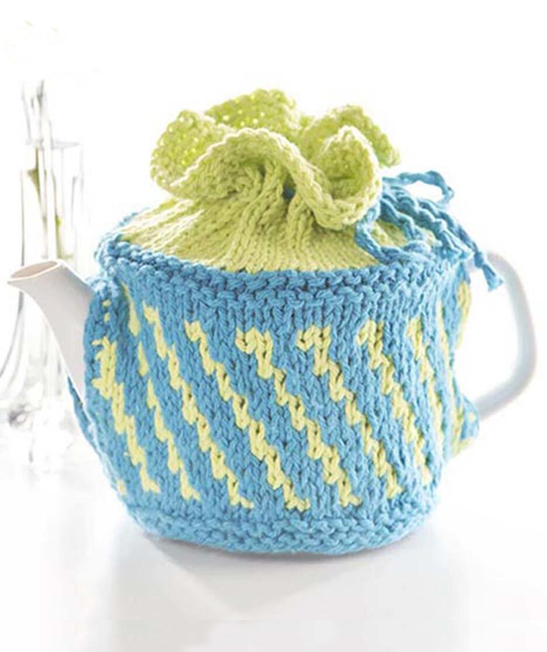 Free Knitting Pattern for Tea Time Cozy