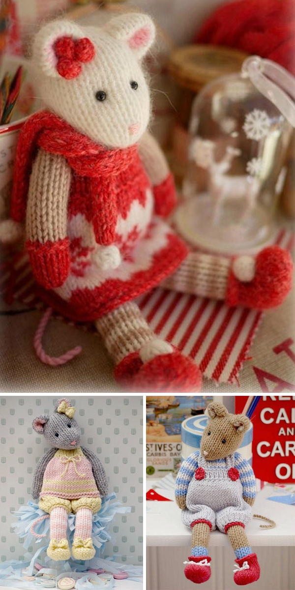 Knitting Pattern for Winter Tearoom Mouse