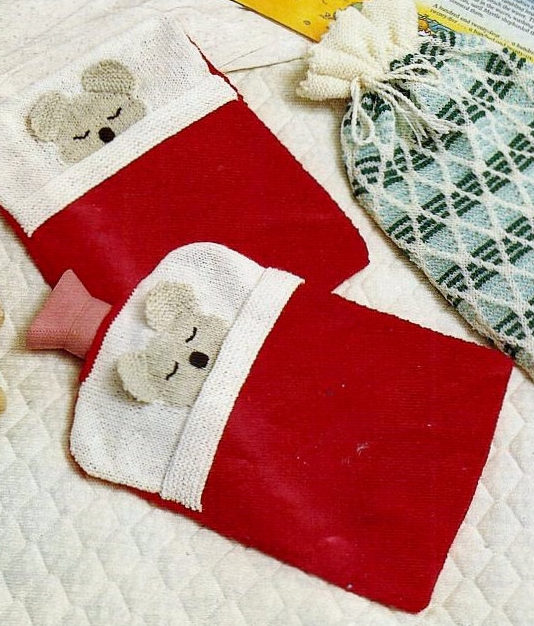 Knitting Pattern for Teddy Bear Hot Water Bottle Cover