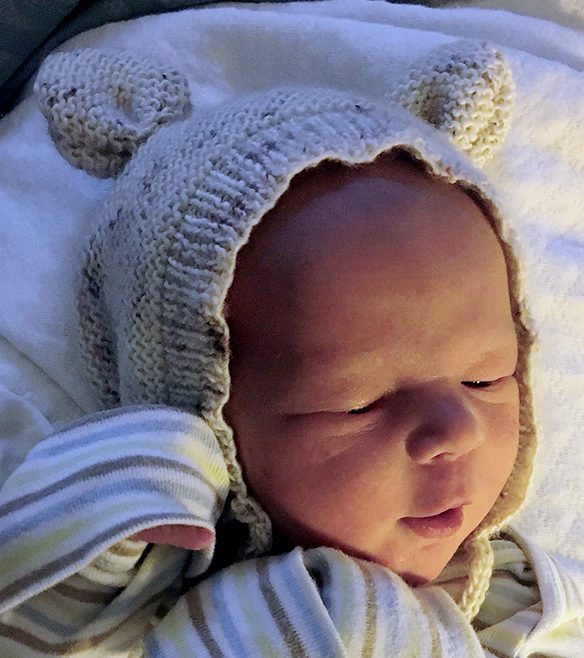 Free Knitting Pattern for Bearly Bonnet