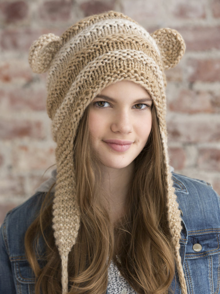 Free Knitting Pattern for One Skein Teddy Love Hat