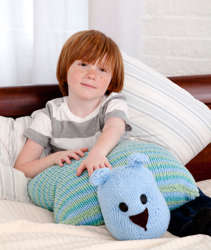 Teddy Bear Pillow Pal Free Knitting Pattern | Favorite Bear Knitting Patterns including Teddy Bears, Paddington Bear, Koala Bear - many free patterns