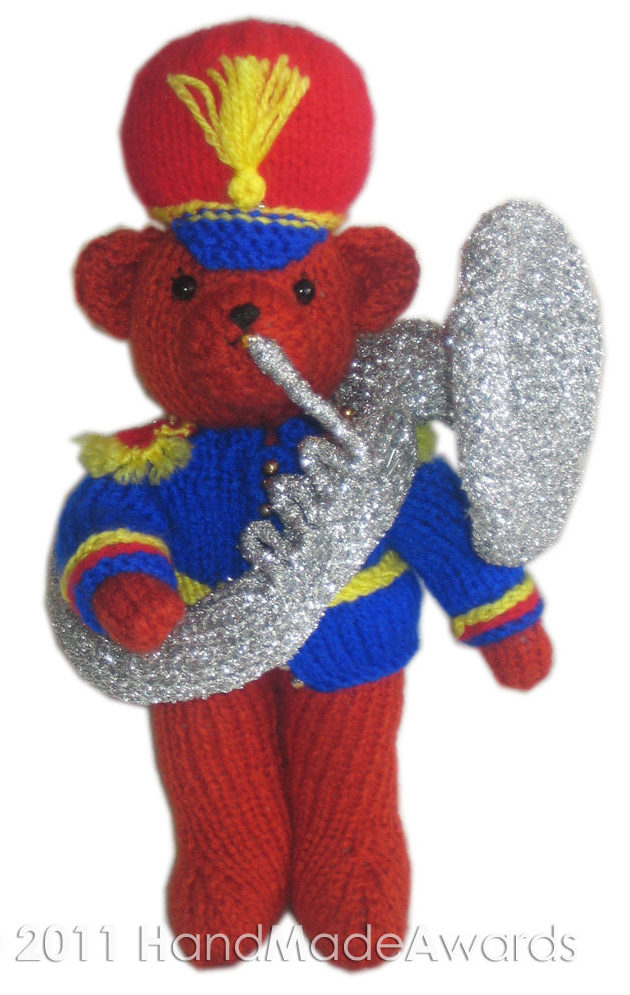 Knitting Pattern for Marching Band Teddy Bear