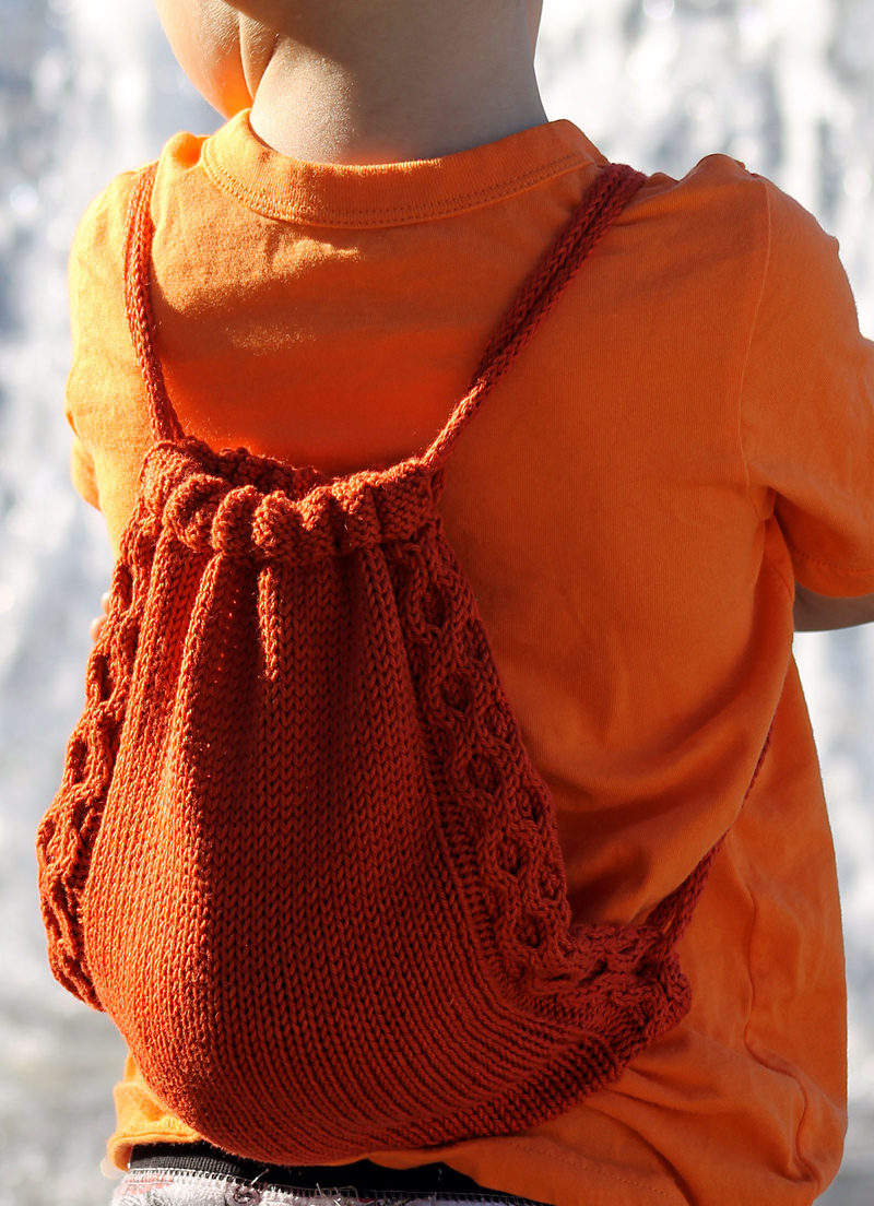 Free Knitting Pattern for Teensy Treasures Bag