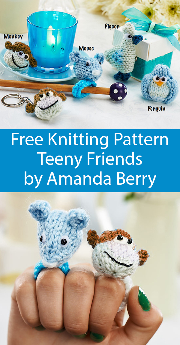Free Knitting Pattern for Teeny Friends by Amanda Berry