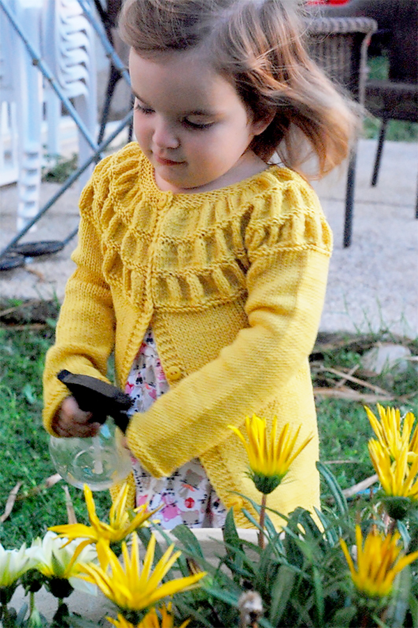 Free Knitting Pattern for Tempest Child's Cardigan
