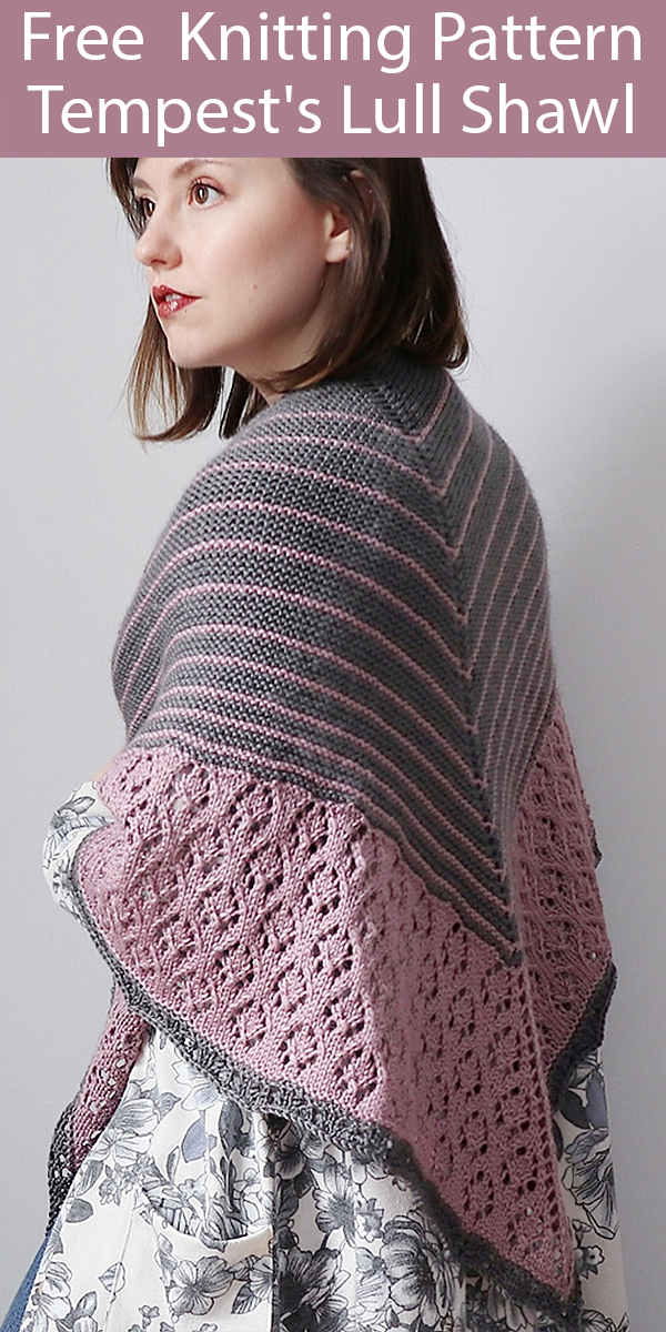 Free Knitting Pattern for Tempest's Lull Shawl