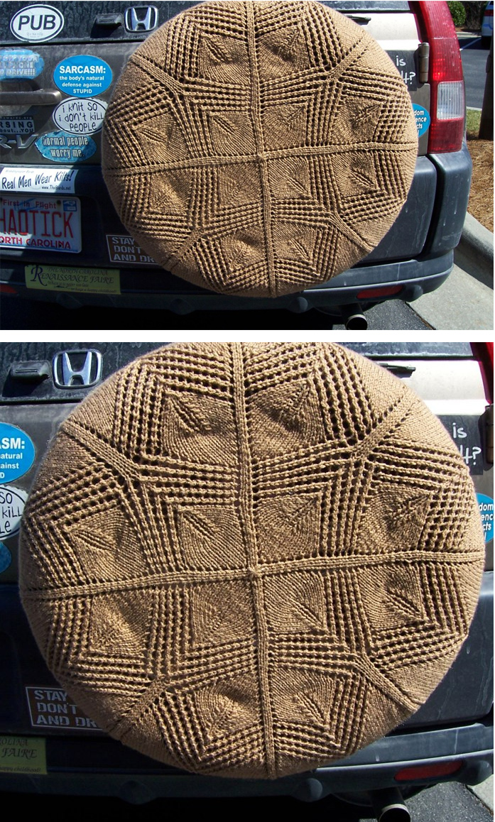 Free Knitting Pattern for Templeton Square Tire Cozy