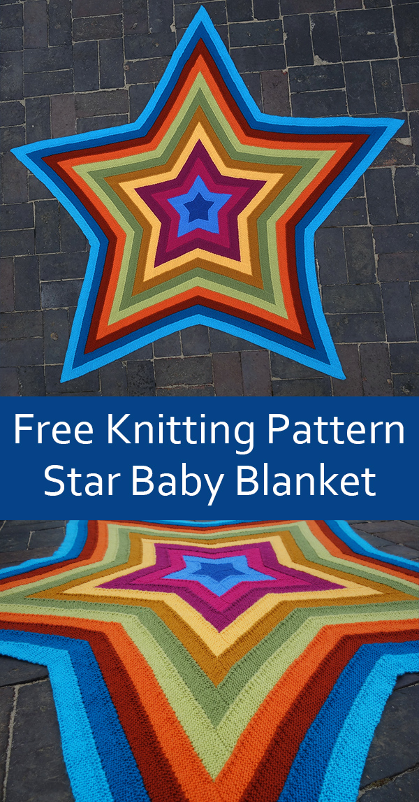 Free knitting pattern for Ten Stitch Star Baby Blanket