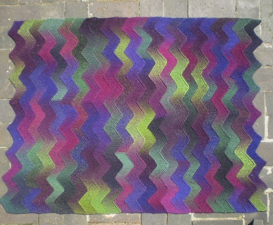 Ten Stitch Zigzag Throw or Blanket