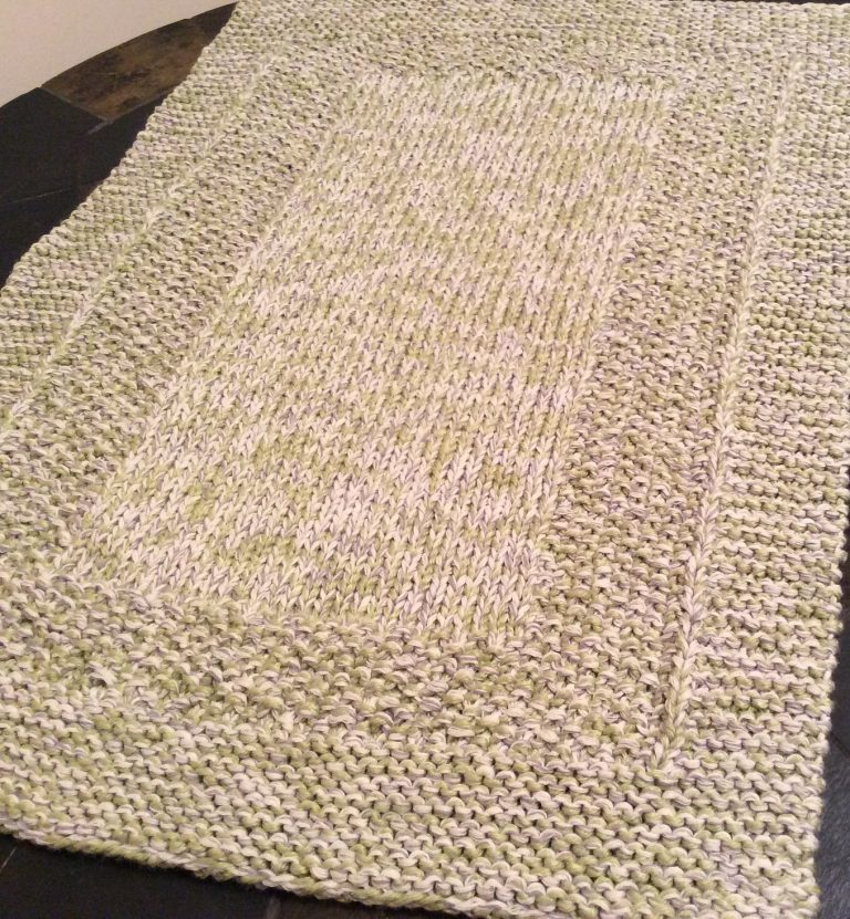 Free knitting pattern for Tender Foot Spa / Bath Mat