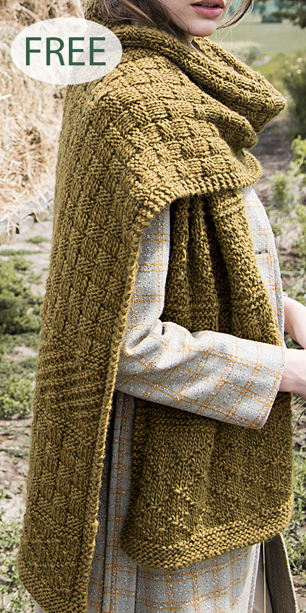 Free Knitting Pattern for Gansey Texture Mix Scarf