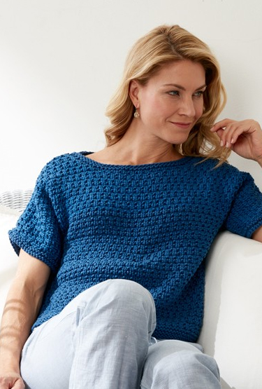 Free knitting pattern for Textured Tee Top