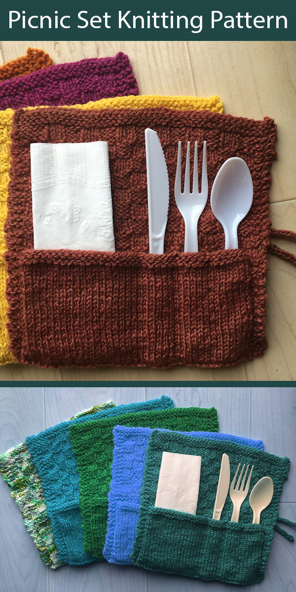 Knitting Pattern for That's a Wrap Picnic Set
