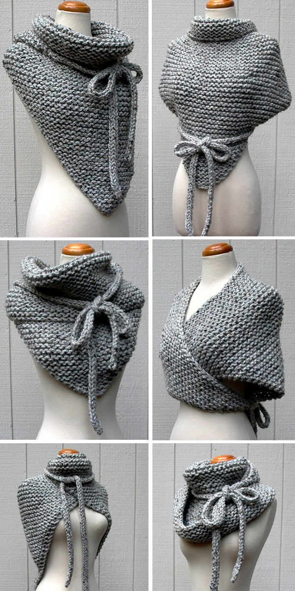 Knitting Pattern for Easy Garter Stitch Wrap