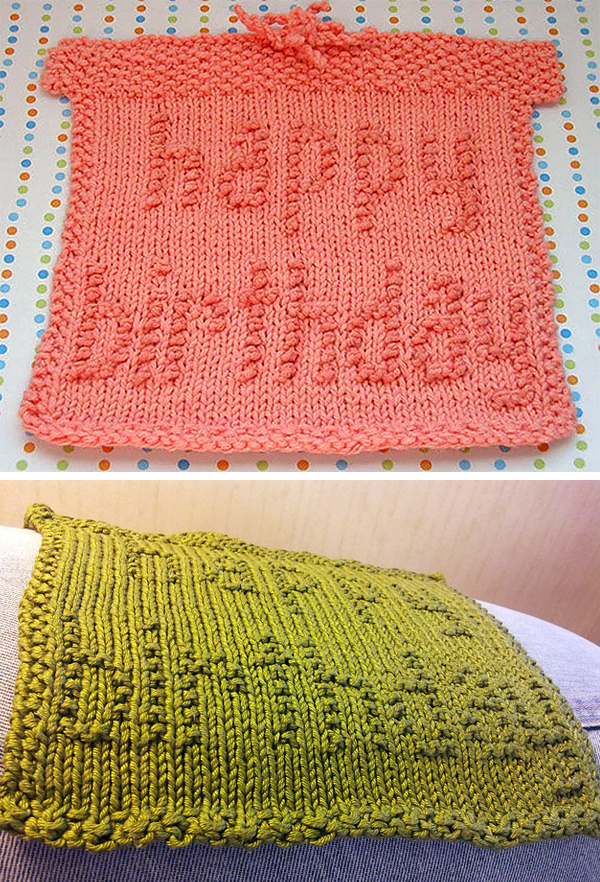 Free Knitting Pattern for The Birthday Box Cloth