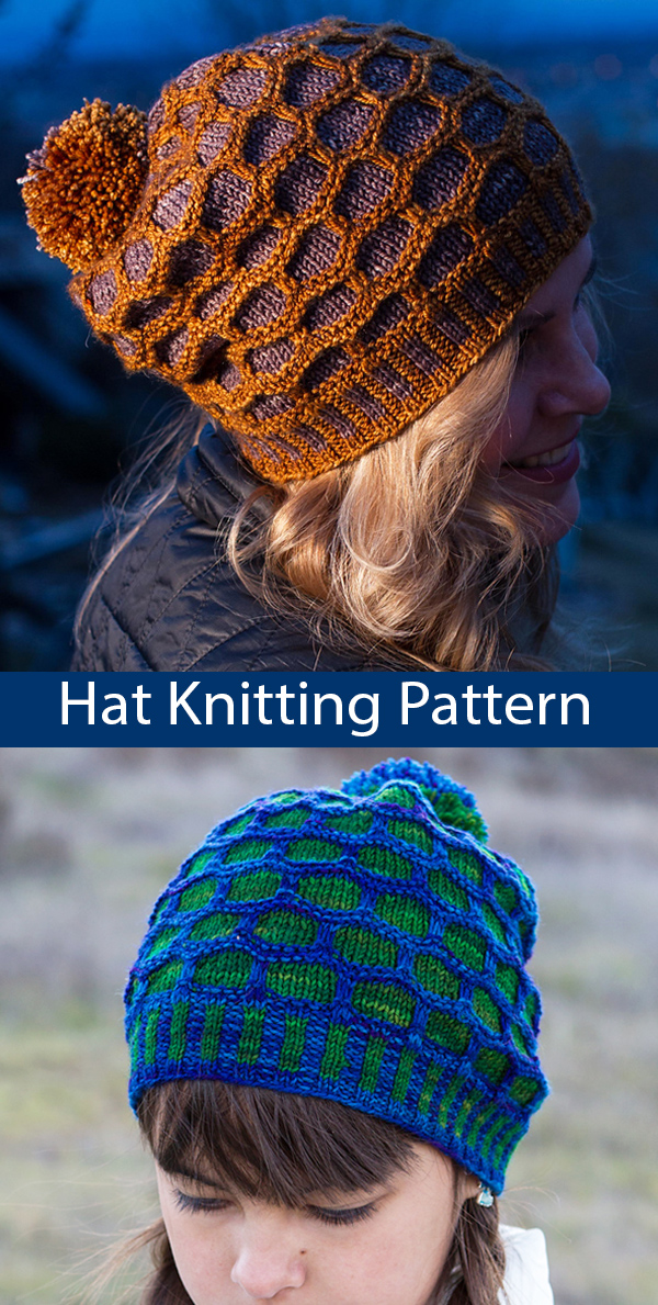 Knitting Pattern for The Honeycomber Slouchy Hat