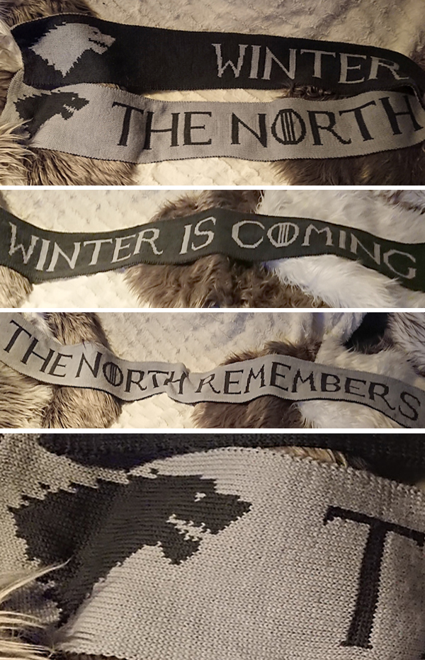 Free Knitting Pattern for The North Remembers Scarf