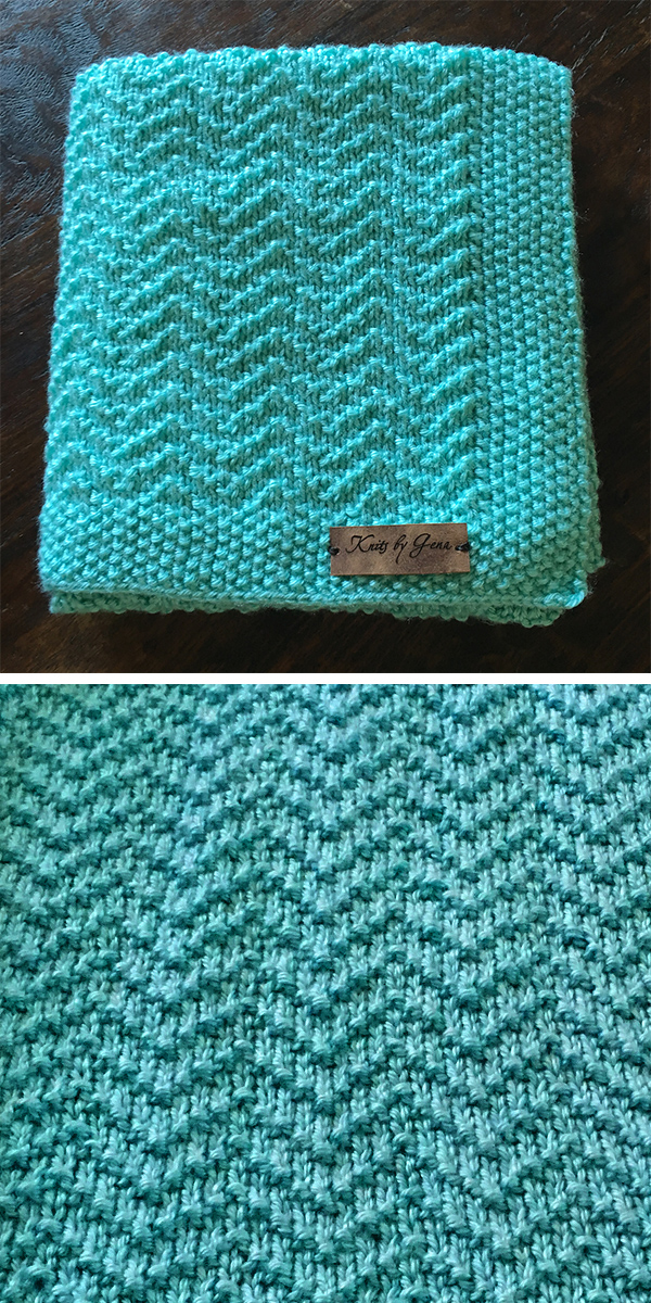 Free Knitting Pattern for 4 Row Repeat Oden Baby Blanket