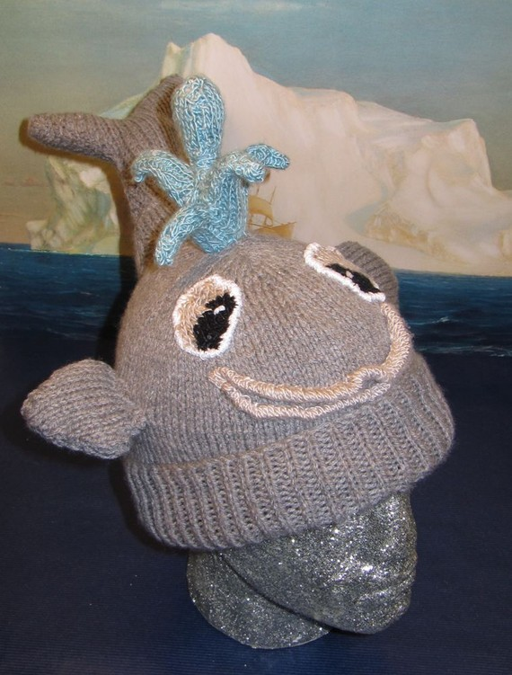 Thar She Blows Whale Hat Knitting Pattern and more fun hat knitting patterns