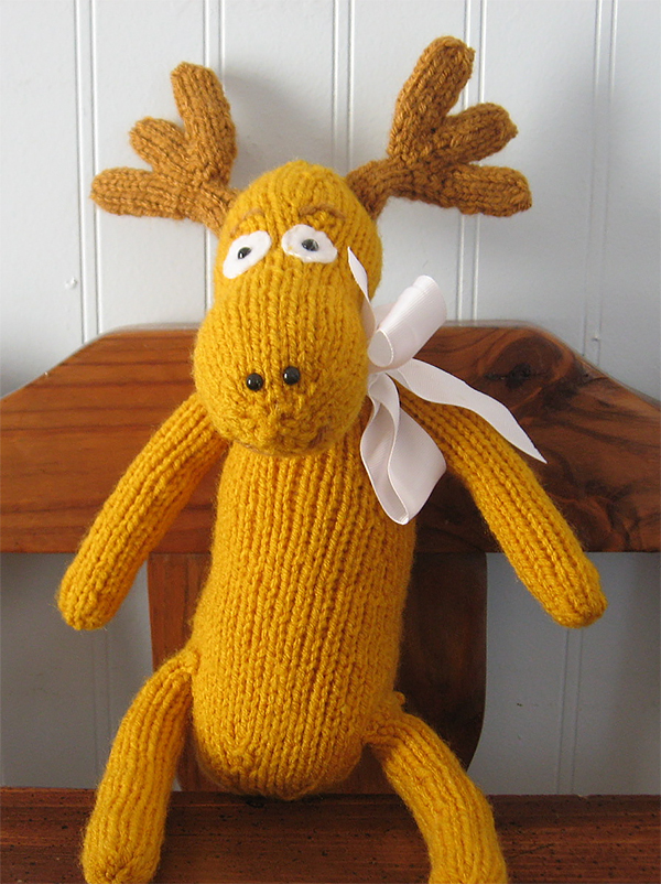 Free Knitting Pattern for Moose