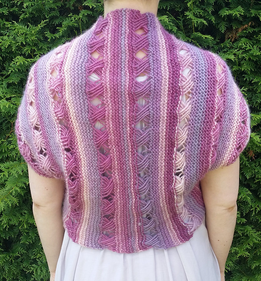 Free Knitting Pattern for Thinking of You Bolero