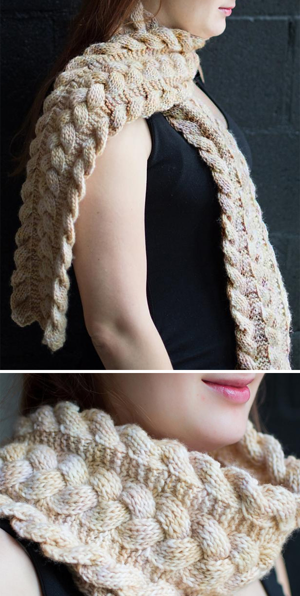 Knitting Pattern for Reversible Third Law Scarf