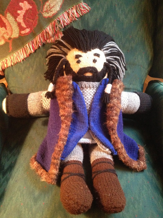 Knitting pattern for Thorin Oakenshield toy and more Rings inspired knitting patterns