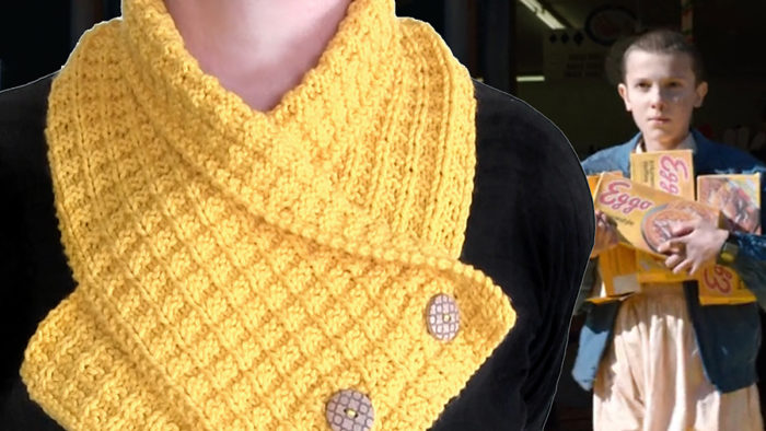 Free Knitting Pattern on Waffle Neck Warmer