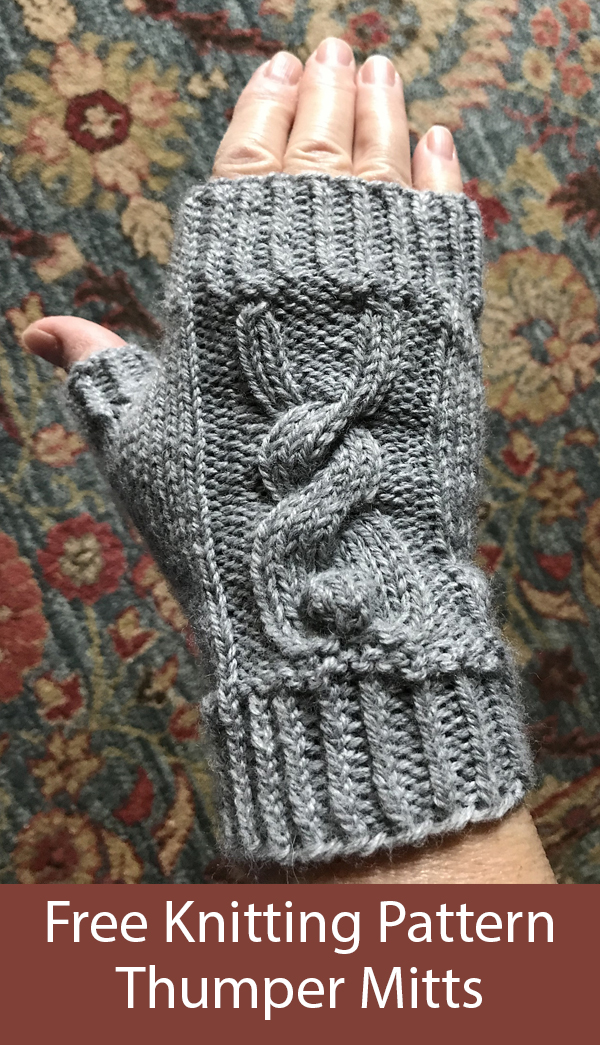 Free Knitting Pattern for Thumper Mitts