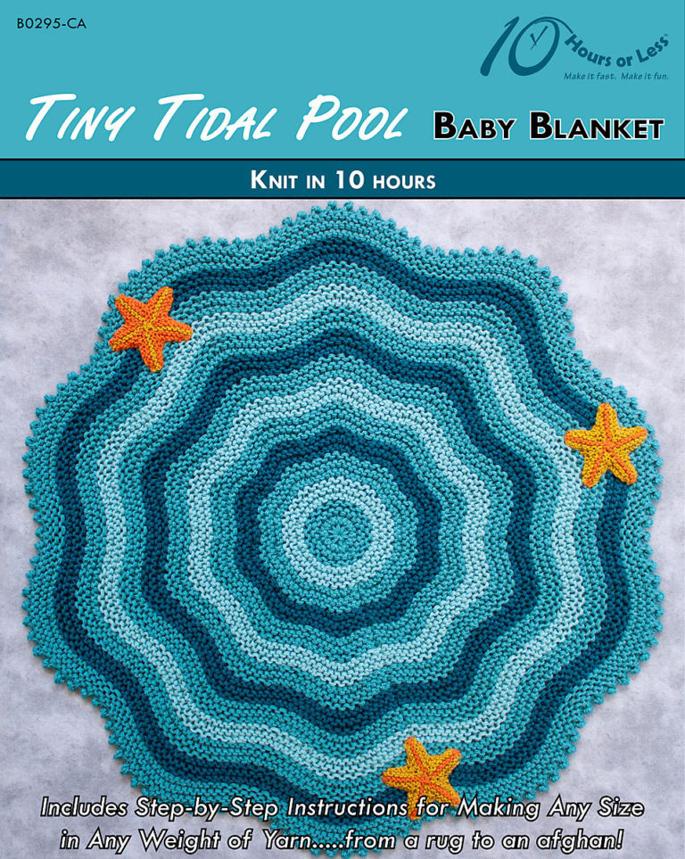 Knitting Pattern for Tidal Pool Baby Blanket