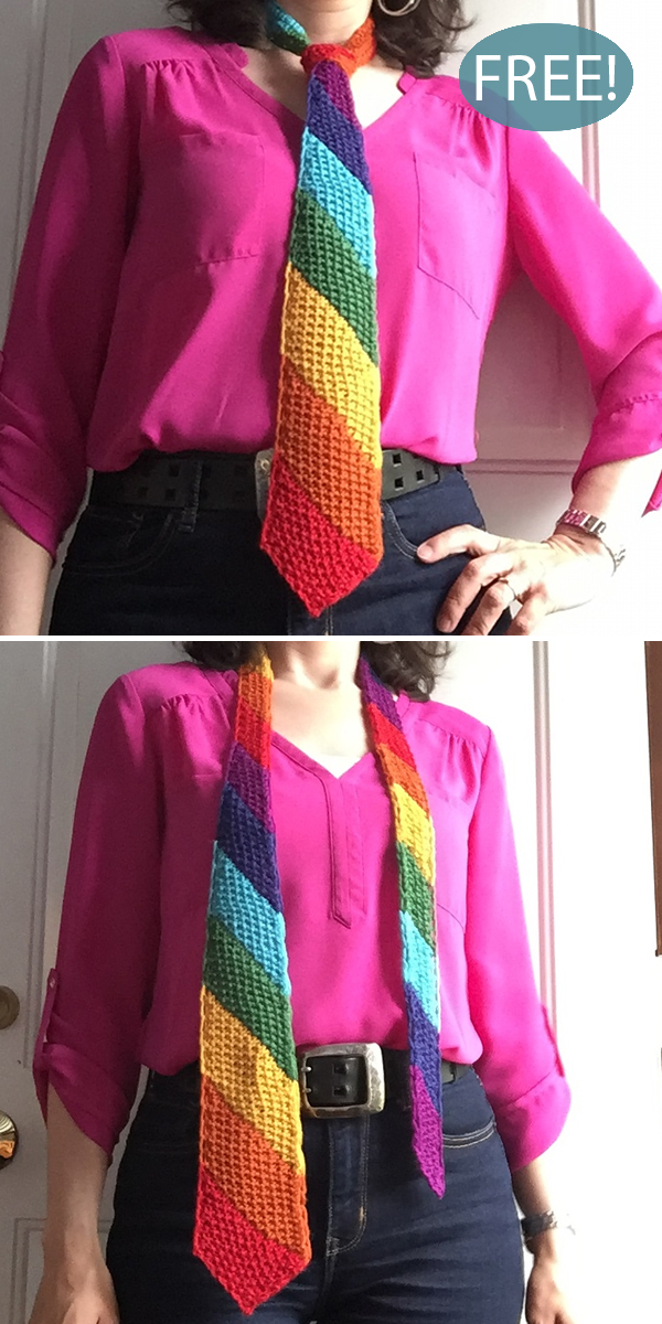 Free Knitting Pattern for Tie One on for Love
