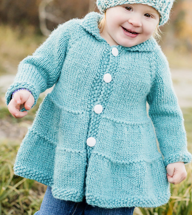 Knitting Pattern for Tiered Baby Coat and Jacket