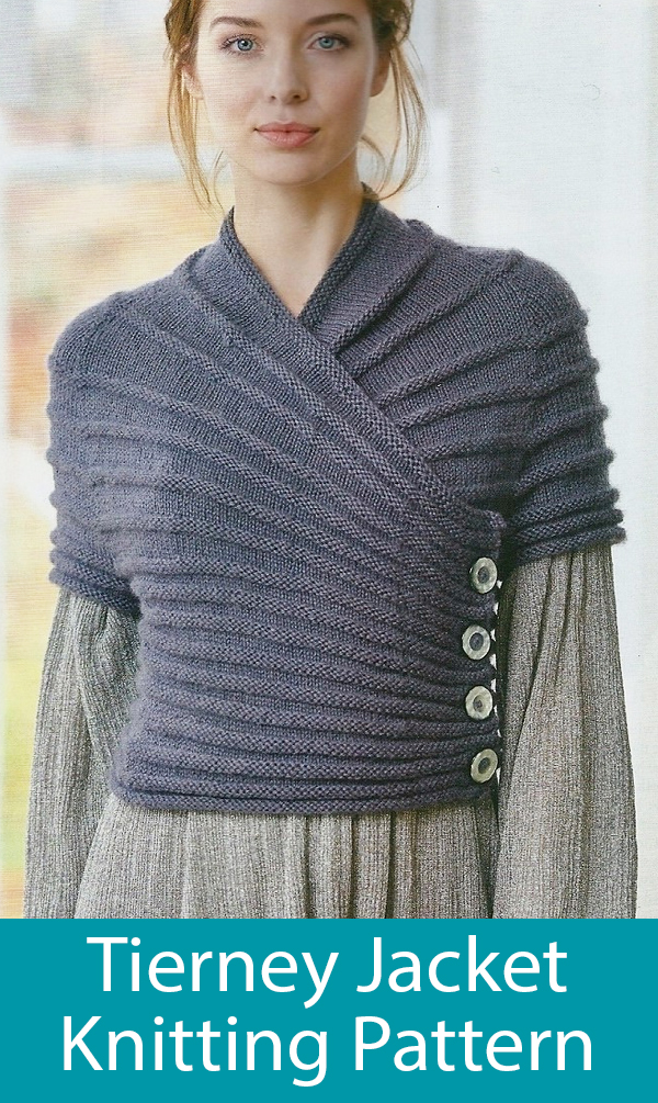 Knitting Pattern for Tierney Jacket with Long or Short Sleeves