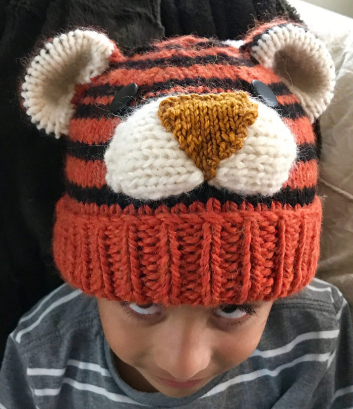 Free Knitting Pattern for Tiger Hat